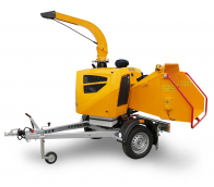 Výkonný štěpkovač na benzín a s brzděným podvozkem (38 HP) LS 160 PPB
