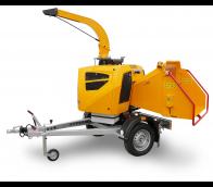 Výkonný štěpkovač na naftu a s brzděným podvozkem (25 HP) LS 160 DWB