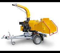 Výkonný štěpkovač na benzín a s brzděným podvozkem (26,5 HP) LS 160 PB