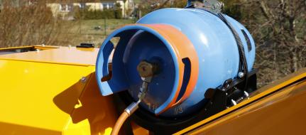 Výkonný štěpkovač na benzín a LPG s pásovým podvozkem LS 160 PG Track