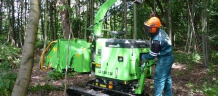 Pásový štěpkovač s vodou chlazeným dieselovým motorem LS 150 DW Track