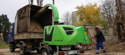 Výkonný štěpkovač na naftu LS 160 DW