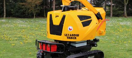 Pásový štěpkovač s vodou chlazeným dieselovým motorem LS 160 DW Track
