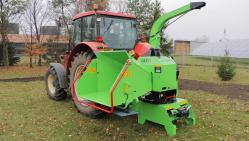 Výkonný štěpkovač za traktor na točně se závěsem pro přívěs 8t LS 160 TT (1000 ot/min)