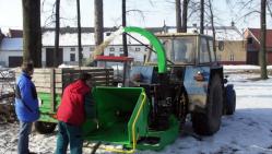 Štěpkovač za traktor se závěsem pro přívěs 8t LS 150 T (1000 ot/min, závěs 8t)