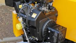 NOVÝ Výkonný štěpkovač na benzín a s brzděným podvozkem LS 160 PB